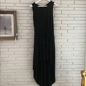 Zara peekaboo back black dress
